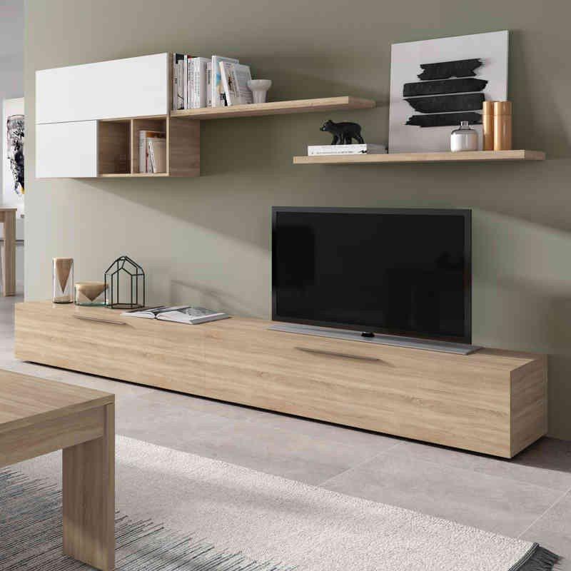 Muebles Blanco 3id6 Mueble De Salà N Haya Y Blanco Melamina Tablones 30 15mm Miroytengo