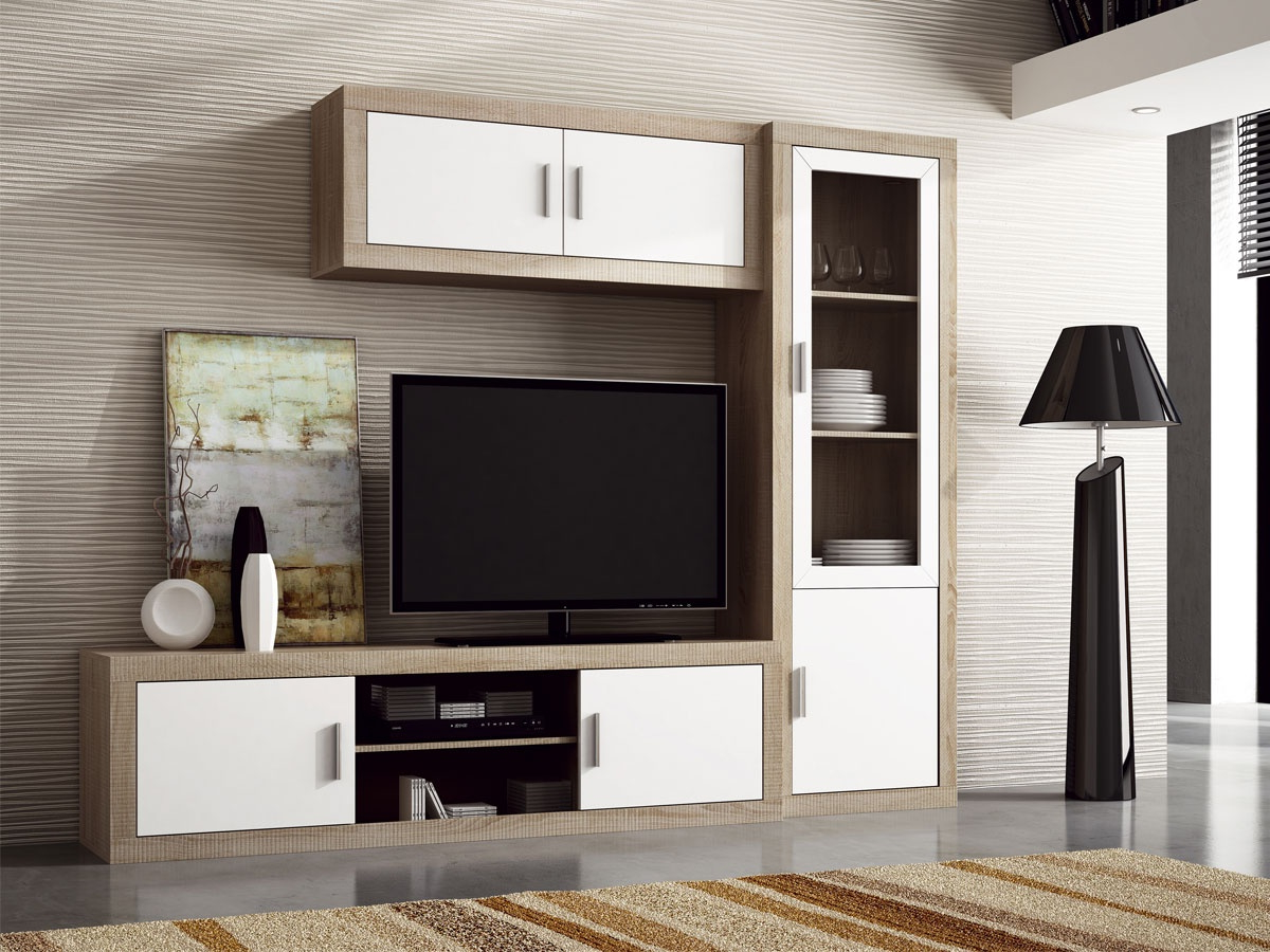 Muebles Blanco Wddj Mueble Apilable De Edor Moderno En Blanco Y Grafito