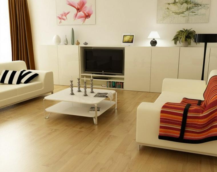 Muebles Blancos Y Madera 0gdr Decoracion Salon Moderno 50 Diseà Os En Blanco Y Madera
