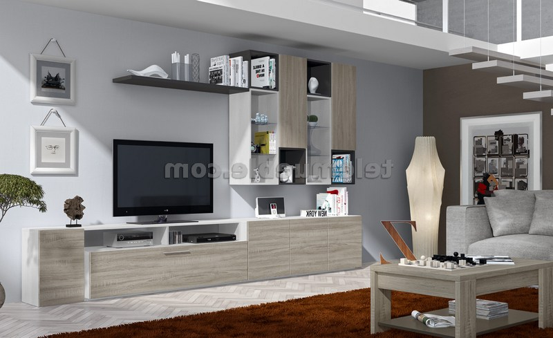 Muebles Blancos Y Madera Budm Mueble Salà N Moderno Color Madera aserrada Clara Y Blanco Nkc16