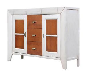 Muebles Blancos Y Madera E6d5 Aparador Bicolor Con 5 Cajones Madera Cerezo Y Blanco Mueble De