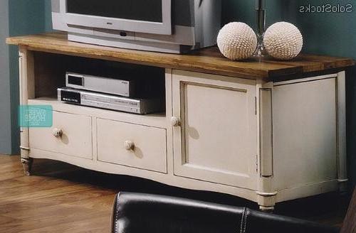 Muebles Blancos Y Madera T8dj Mueble De Tv Blanco Patinado Madera Maciza De Olmo Vintage