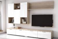 Muebles Blancos Y Madera Tqd3 Mueble De Salà N Edor Estilo Moderno Roble Con Blanco 4280