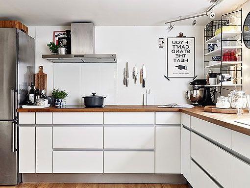 Muebles Blancos Y Madera Zwdg Cocina En Blanco Madera Y Acero