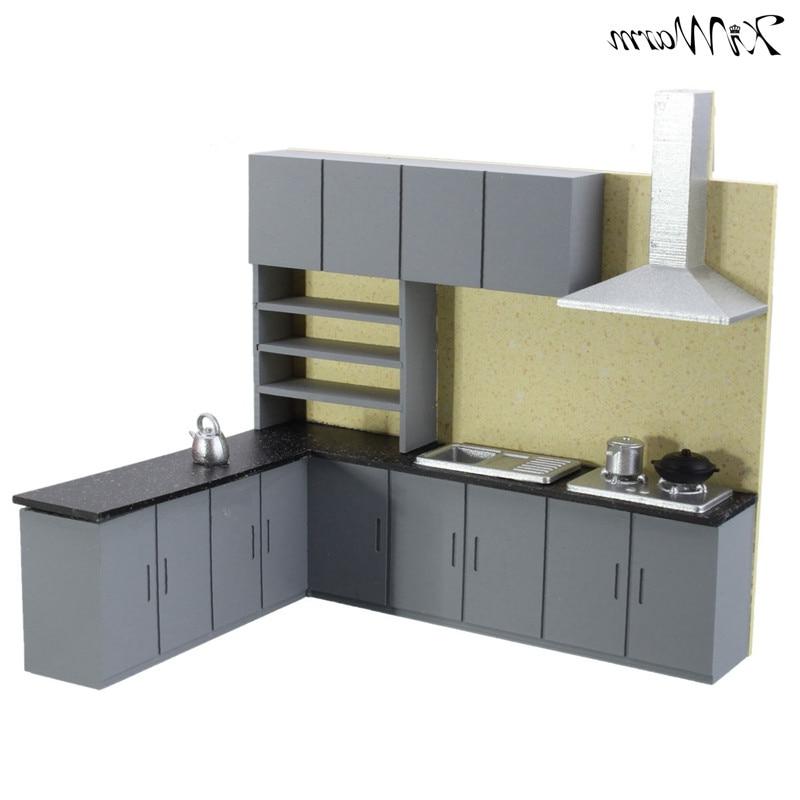 Muebles Cocina En Kit Budm Kiwarm 1 25 Dollhouse Miniatura Muebles Cocina Kit Modelo Para Nià Os