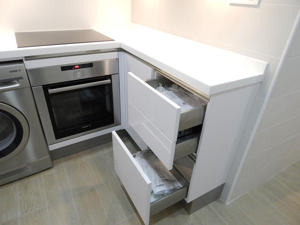 Muebles Cocina Fondo Reducido D0dg Blanco Y Acacia Luminoso Brillante Cocinasalemanas