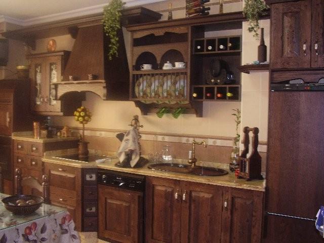 Muebles De Madera Rusticos Para Cocina. Frente De Mueble De Cocina ...