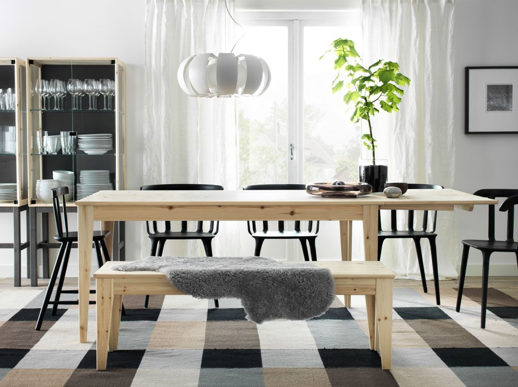 Muebles Comedor Ikea E6d5 Un Edor Con Mesa nornà S De Madera De Pino ...