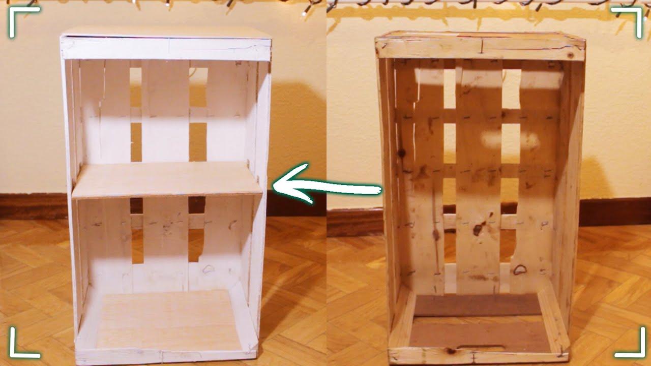 Muebles Con Cajas De Madera Drdp Haz Un Mueble Con Una Caja De Fruta Diy