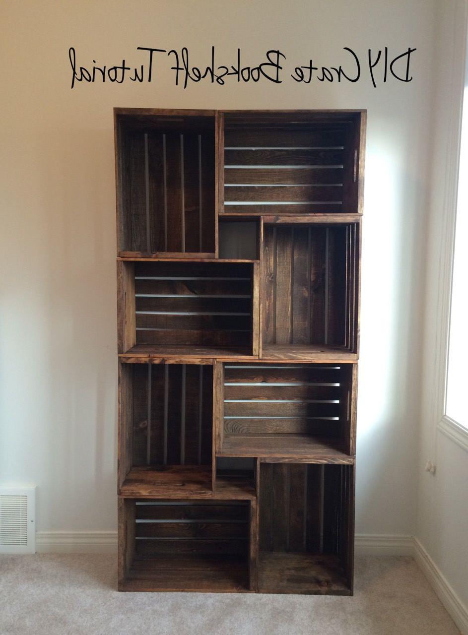 Muebles Con Cajas De Madera Rldj Diy Crate Bookshelf Tutorial Casa Muebles Con Cajas