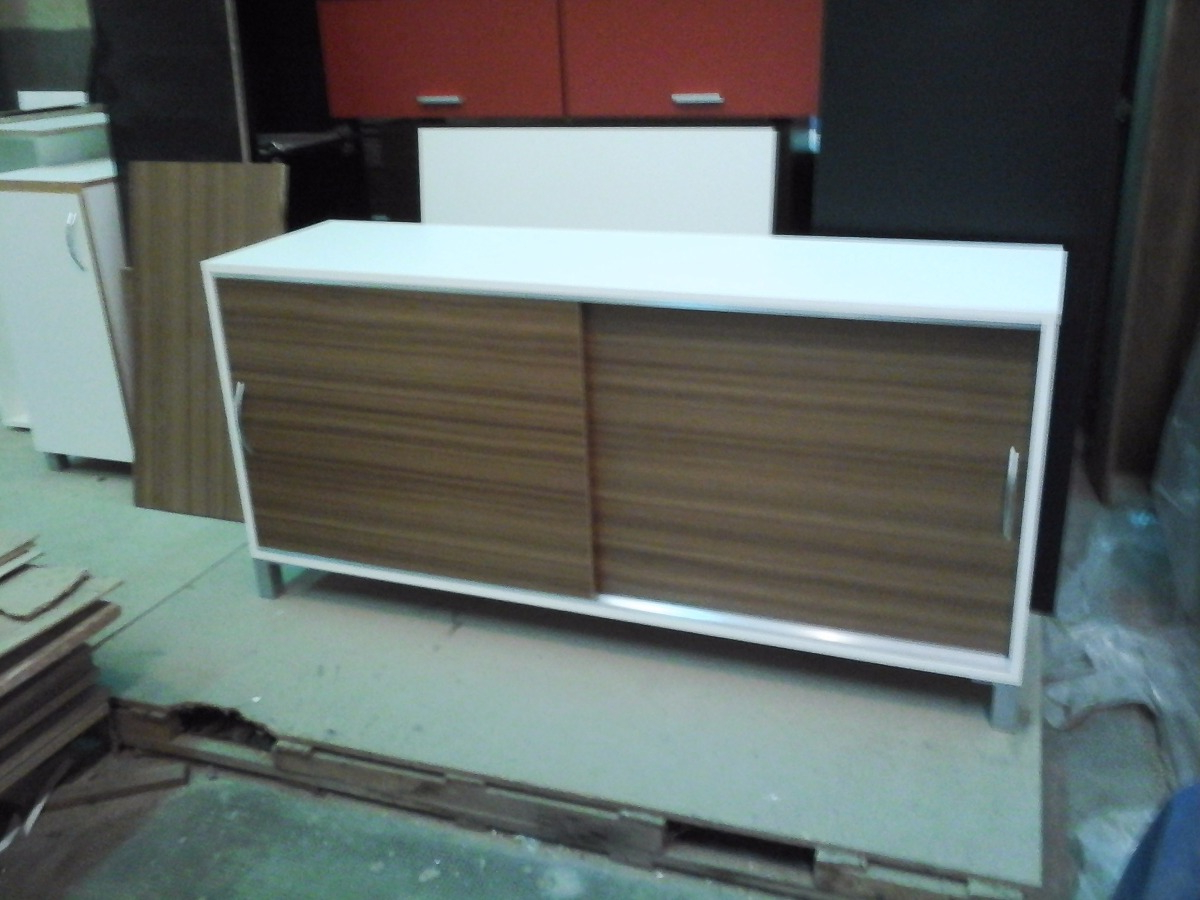 Muebles Con Puertas Corredizas 3id6 Mueble Bajo Con 2 Puertas Corredizas 1 36m Melamina 18mm
