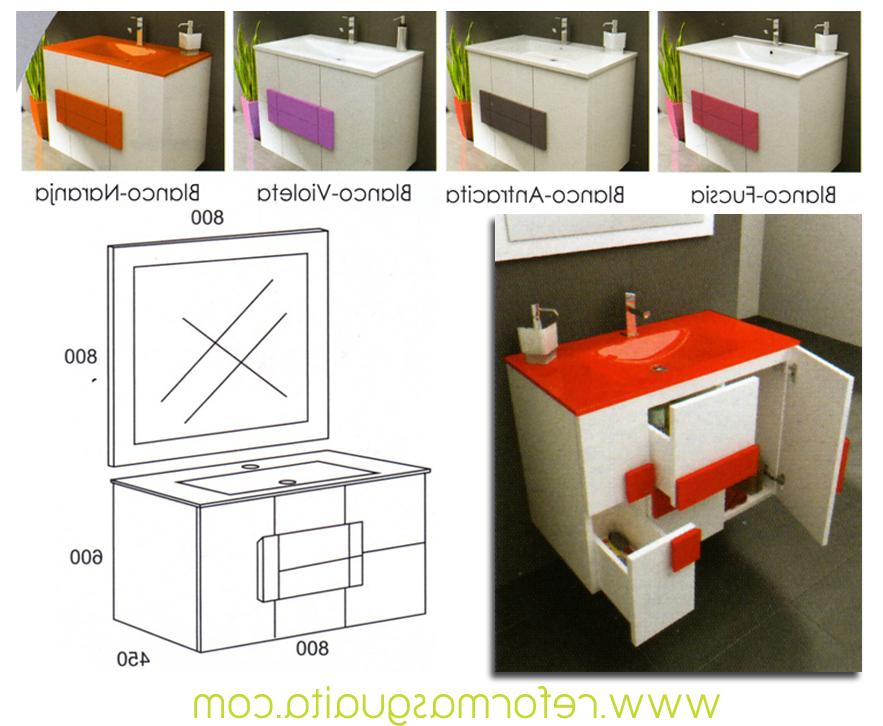 Muebles De Baño Blancos 87dx Albacete Mueble Suspendido En Blanco Y Color Reformas Guaita