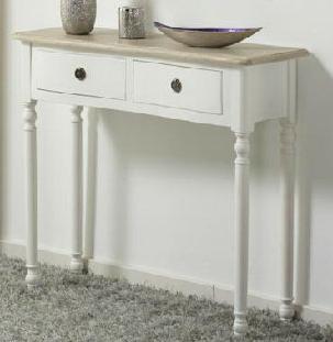 Muebles De Entrada Blancos 3id6 Consola Recibidor Daina Bicolor 2 Cajones Blog De Artesania Y