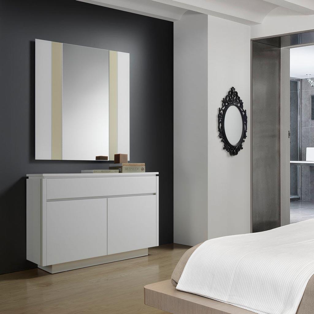 Muebles De Entrada Blancos 8ydm â Recibidores Modernos Con Espejo Para La Entrada De Tu Casa