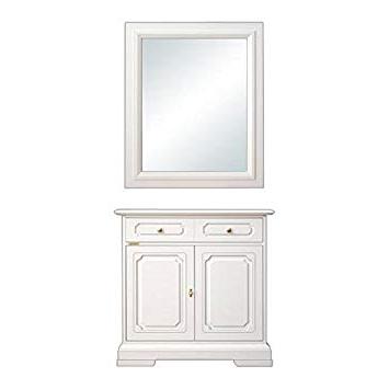 Muebles De Entrada Blancos E6d5 Arteferretto Aparador Y Espejo Laqueados Blancos Muebles De Entrada
