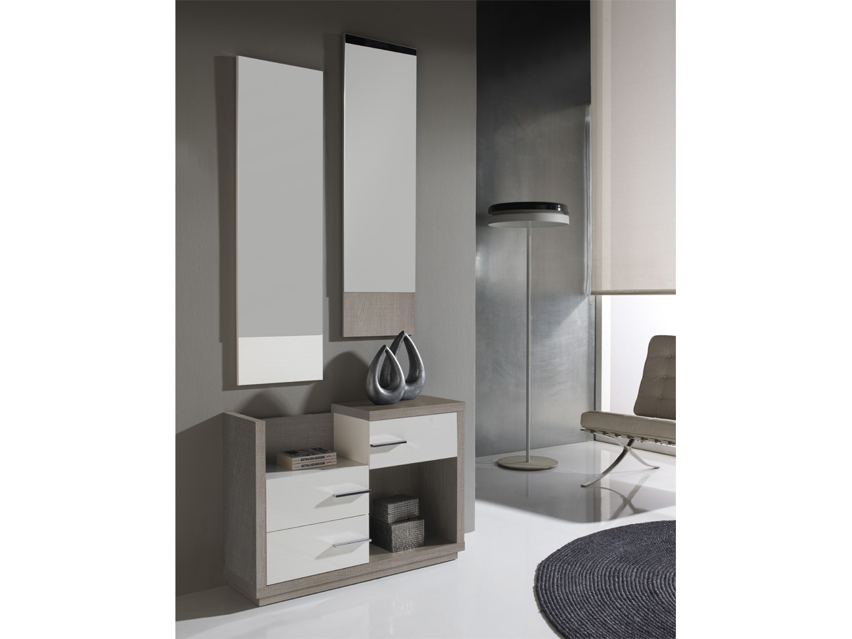Muebles De Entrada Modernos J7do Mueble De Entrada Moderno Color Nogal Y Detalles En Visà N
