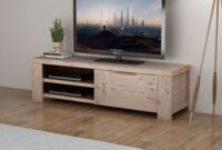 Muebles De Madera Maciza Rldj Mueble Para Tv Madera Maciza De Acacia Cepillada 140x38x40 Cm