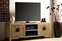 Muebles De Madera Natural Bqdd Mueble De Tv Trapano 4 Puertas Y 2 Huecos Madera De Olmo Natural