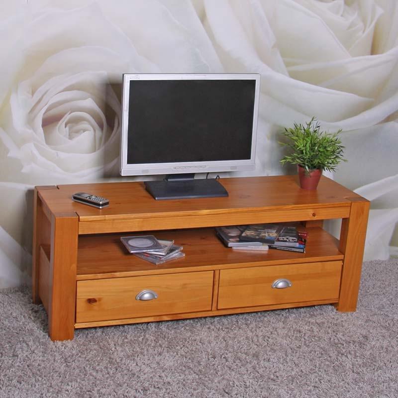 Muebles De Pino Color Miel Budm Mesa Estante Para Tv Lowboard En Madera De Pino Macizo Color Miel