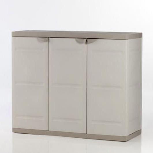 Muebles De Resina Mndw Armario Resina Jardin Bajo Tres Puertas Armarios De Resina Y