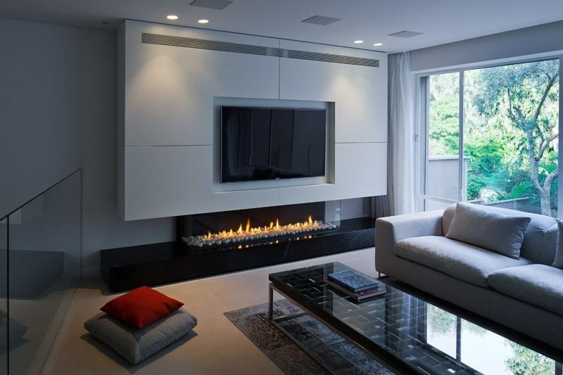 Muebles De Salon Con Chimenea Integrada 0gdr Salones Con Chimenea 65 Ideas Ar Ntes