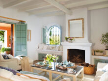Muebles De Salon Con Chimenea Integrada