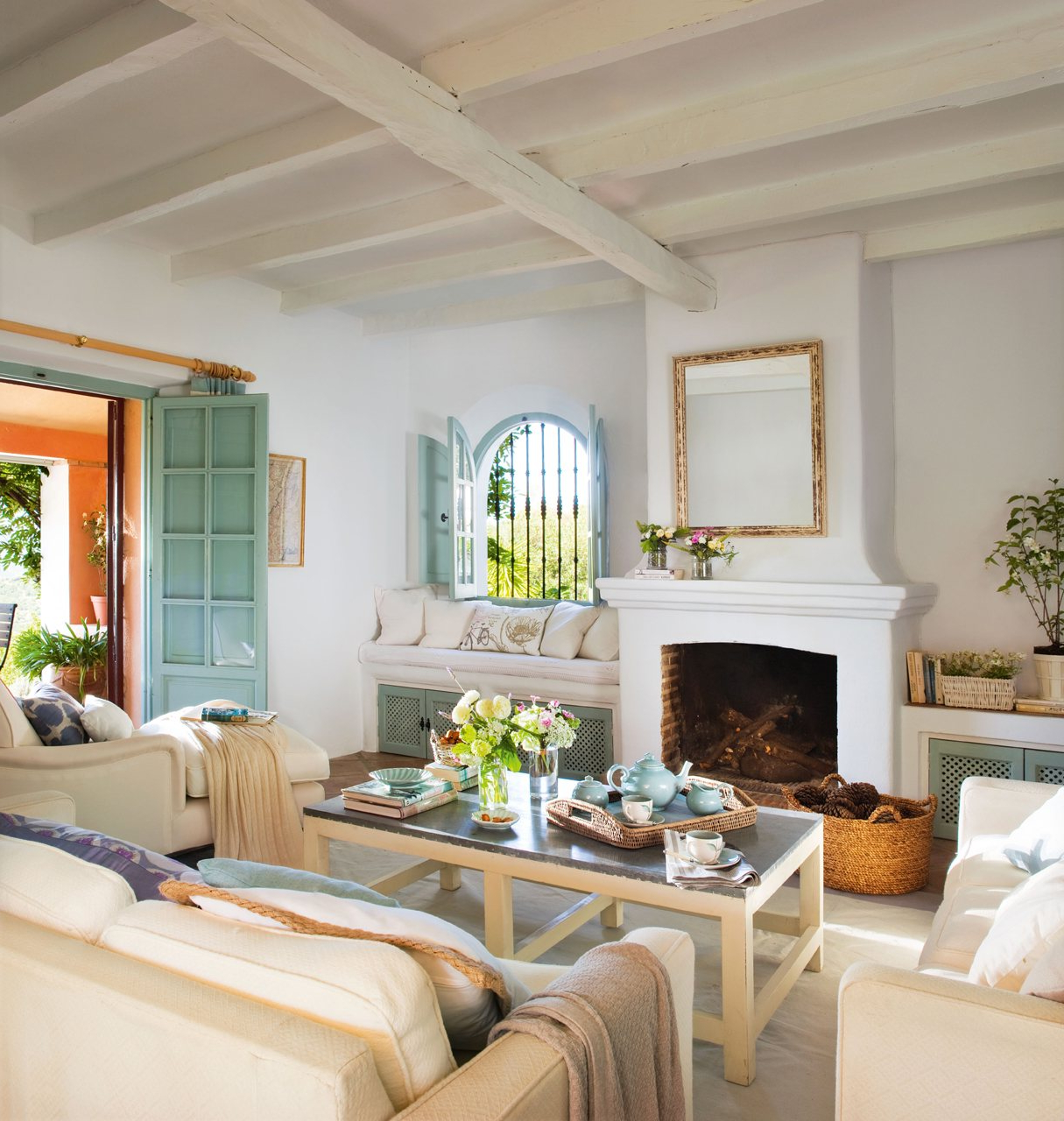 Muebles De Salon Con Chimenea Integrada Bqdd 15 Salones Con Chimenea Para El Invierno