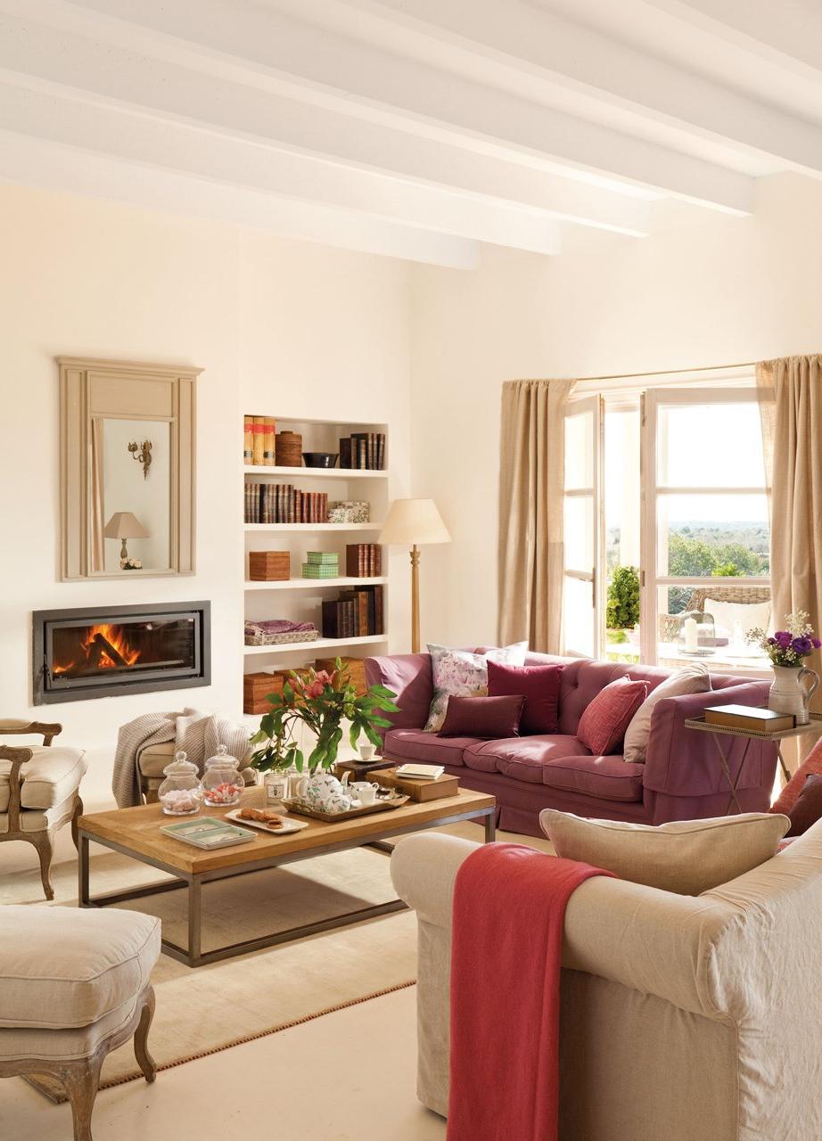 Muebles De Salon Con Chimenea Integrada D0dg 15 Salones Con Chimenea Para El Invierno