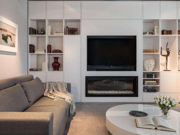 Muebles De Salon Con Chimenea Integrada Dddy Un Salà N Minimalista Un à Tico Minimalista Y Luminoso Nuevo Estilo