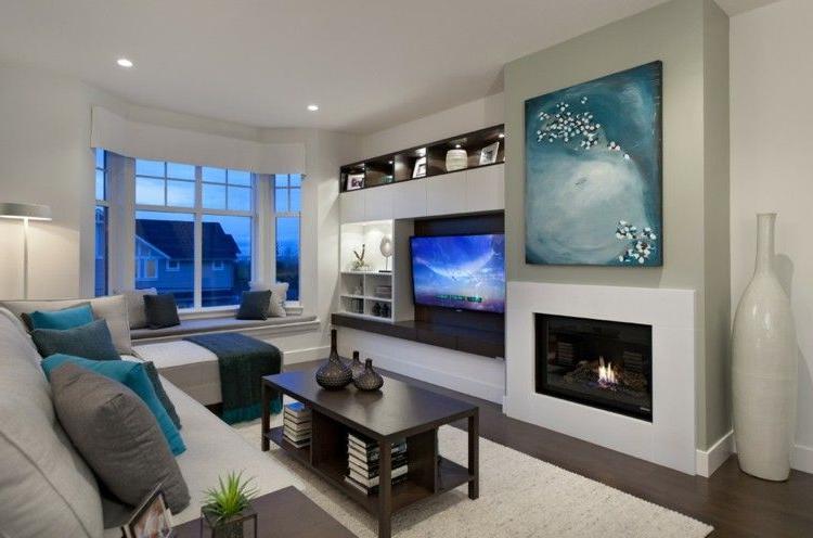 Muebles De Salon Con Chimenea Integrada Ftd8 Chimeneas Bioetanol Y Televisor Integrado En La Pared Decoracià N