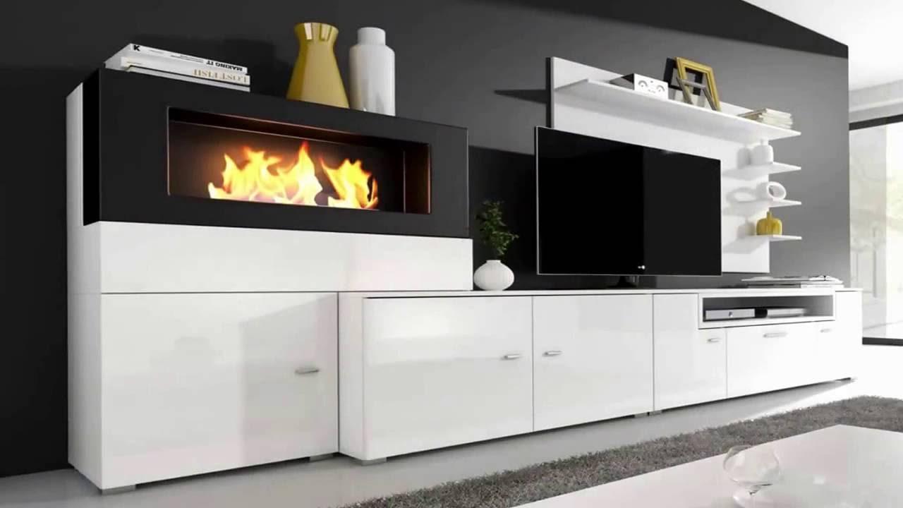 Muebles De Salon Con Chimenea Integrada Y7du Mueble De Salà N Olympo Con Chimenea Youtube