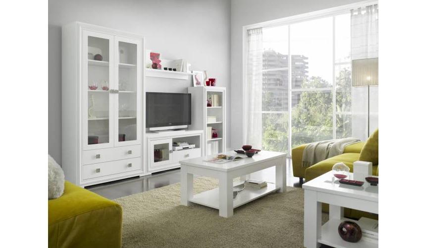 Muebles De Salon Merkamueble 9fdy Mueble De Salà N Blanco Lacado