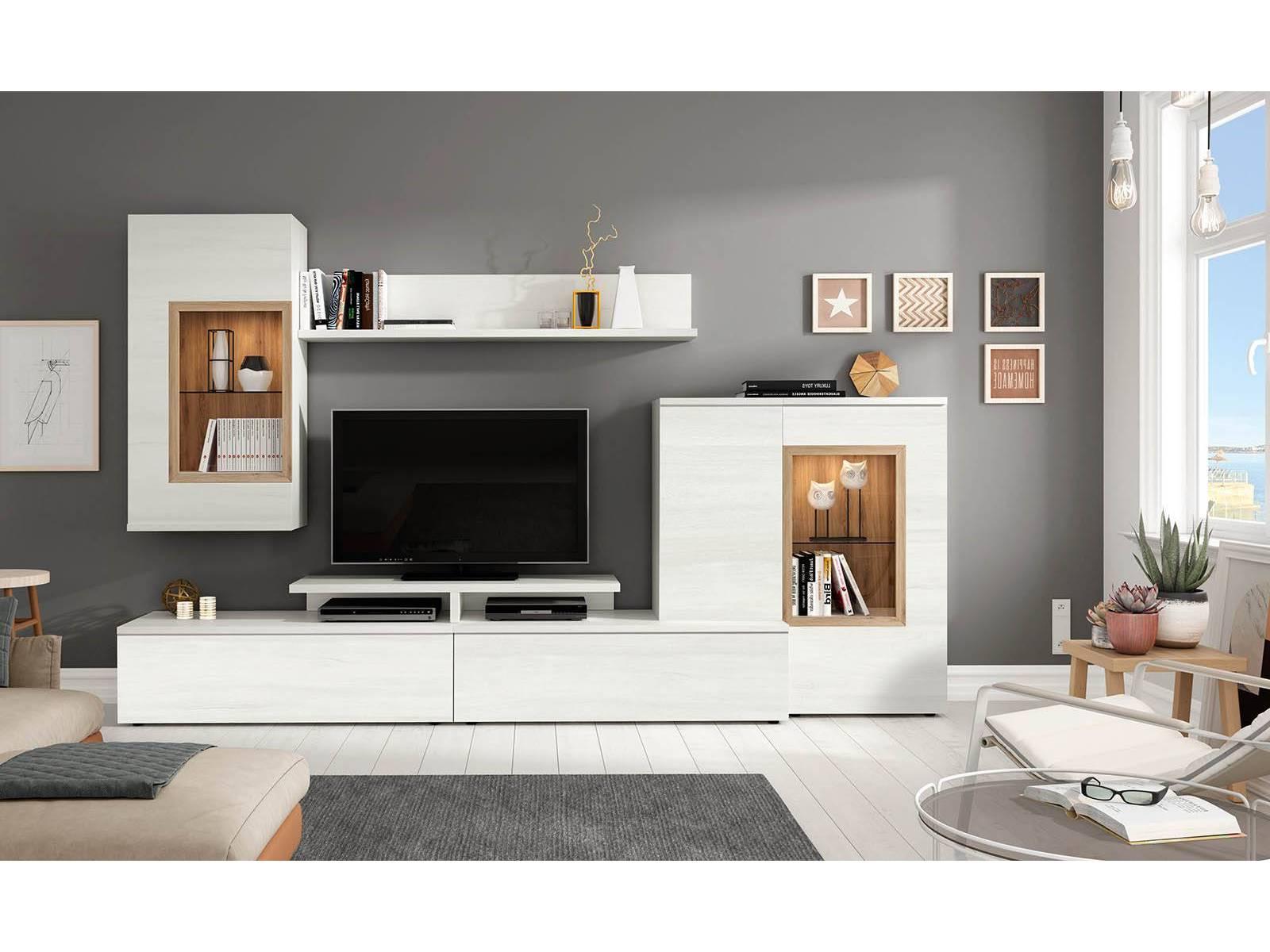 Muebles De Salon Merkamueble H9d9 Modular De Salà N Colores Polar Y Roble