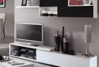 Muebles De Salon Modulares Wddj Mueble Modular Tv Pleto De Salà N Edor Color Blanco Brillo Y