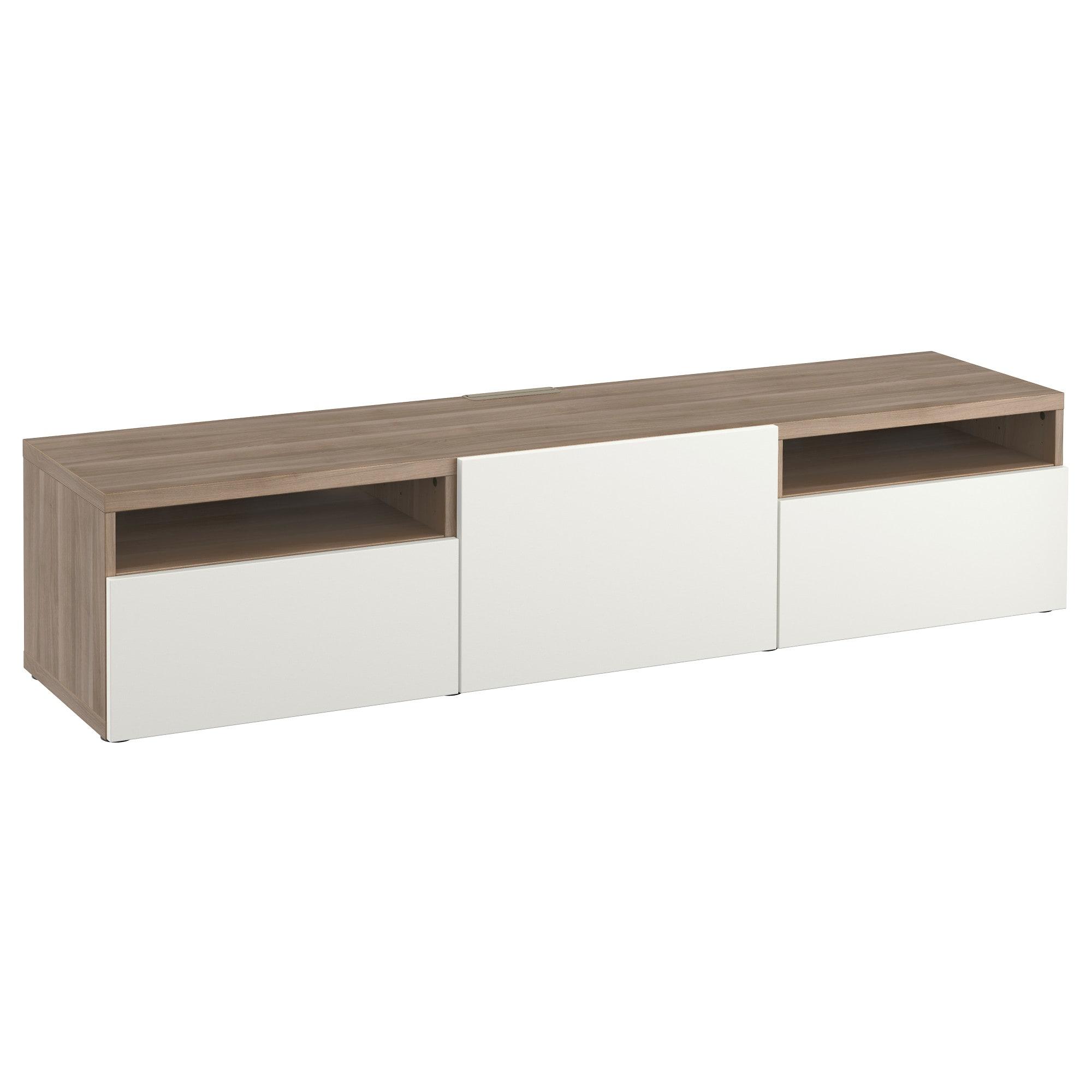 Muebles De Tv Ikea D0dg Bestà Mueble Tv Efecto Nogal Tinte Gris Lappviken Blanco 180 X 40 X