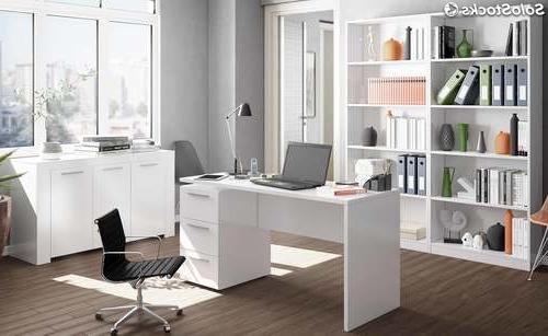 Muebles Despacho Rldj Pack Muebles Despacho Color Blanco Brillo 1 Escritorio 1 Aparador 2