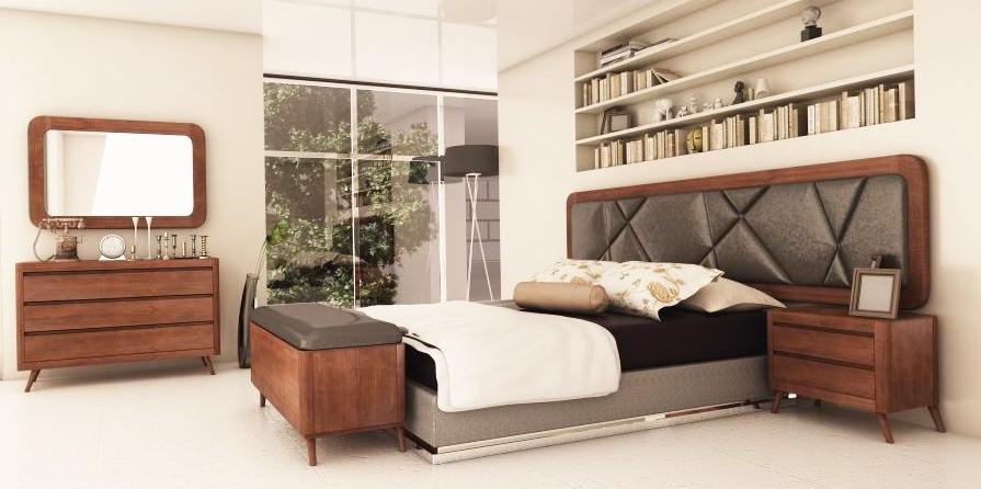 Muebles Dormitorio 4pde Dormitorio Con Muebles Modernos Y Con Patas Estilo Vintage