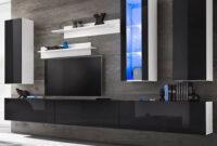 Muebles En La Pared Etdg Muebles De Pared De Tv Con Luces Led Negro Brillante 8 Piezas
