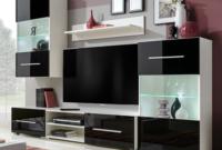Muebles En La Pared Fmdf Mueble De Pared 5 Uds Gabinete Tv Con Iluminacià N Led Negro