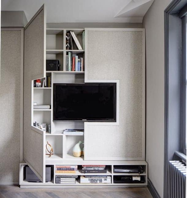Muebles En La Pared Gdd0 Mueble Para Tv De Diseà O Personalizado Con Gran Estanterà A