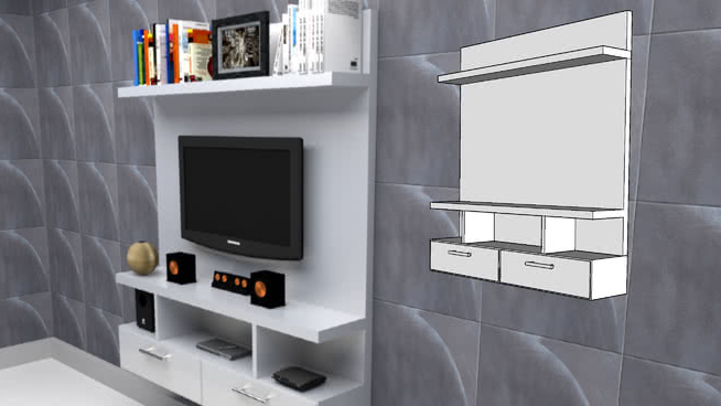 Muebles En La Pared Thdr Mueble Para Tv De Pared 3d Warehouse