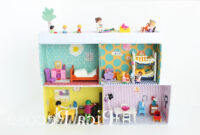 Muebles En Miniatura Para Casas De Muñecas Fmdf Construye Una Casa Para Los Playmobil Con Cajas De Zapatos