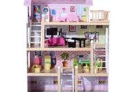 Muebles En Miniatura Para Casas De Muñecas Whdr Casa De Muà Ecas Con Muebles Mobiliario Casita Muà Eca Jueguetes Madera Color Rosa