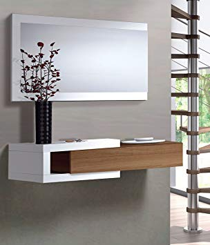 Muebles Entrada Recibidor Budm Mueble De Entrada Recibidor Salon Edor Sala Oficina Color Nogal