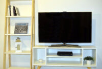 Muebles Estilo nordico S1du Bo Mesa Tv Led Biblioteca Mueble Estilo nordico Blanco