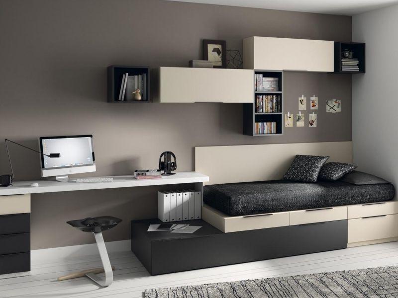 Muebles Estudio Q5df Dormitorio Juvenil Tipo torre Con Zona Estudio De Muebles Jjp
