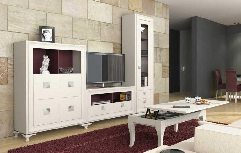 Muebles Gran Via Gdd0 Eccellente Mueble Salon Lacado Blanco Lgant Purpura 2 80 Ercial