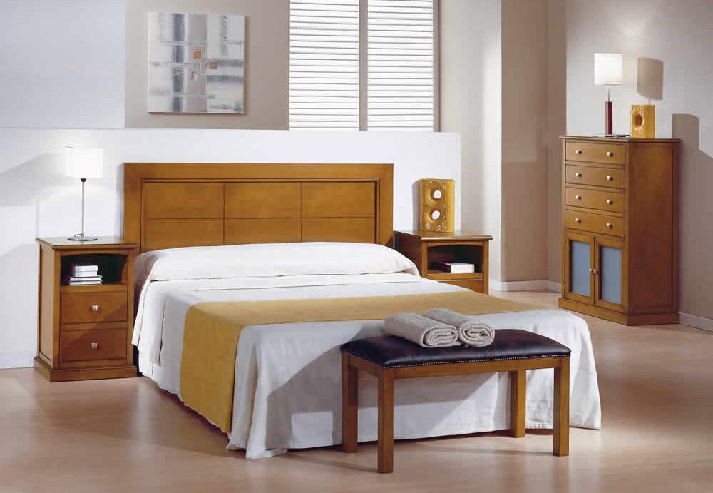 Muebles Habitacion Tqd3 Muebles Habitacià N De Matrimonio Madera Con Cabecero Recto