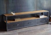 Muebles Hierro Y Madera D0dg Mueble Tv Lcd Led Industrial Vintage Madera Y Hierro Arg 730
