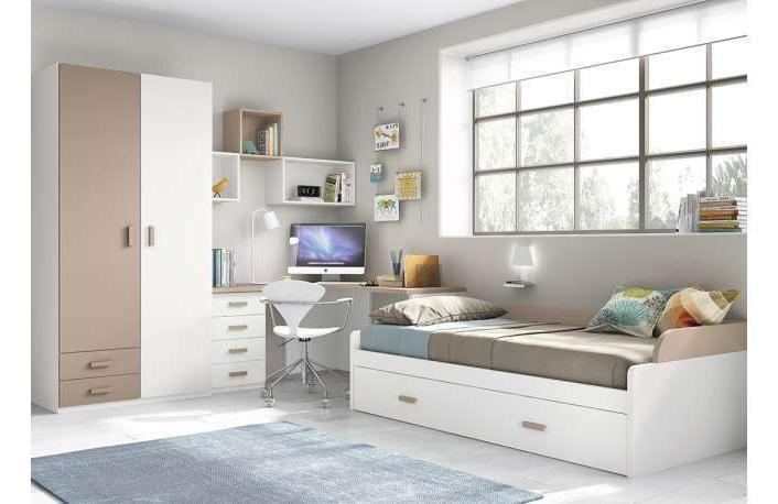 Muebles Juveniles Tqd3 Dormitorios Juveniles Con Armario Y Zona Estudio 019 Juv Mod 42
